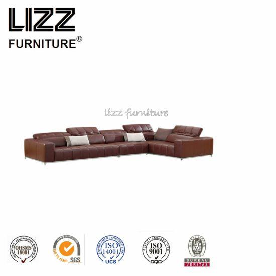China High Quality Good Sale Italian Design L Shape Corner Leather ...