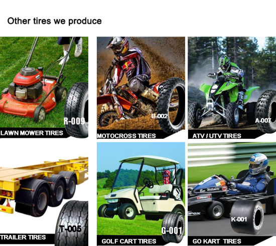 Lawnmower Trailer Golf Cart Scooter Motorcycle ATV Go Kart Tyre pictures & photos