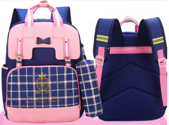 British Style Backpack Day Pack Children's Customised PU School Bags