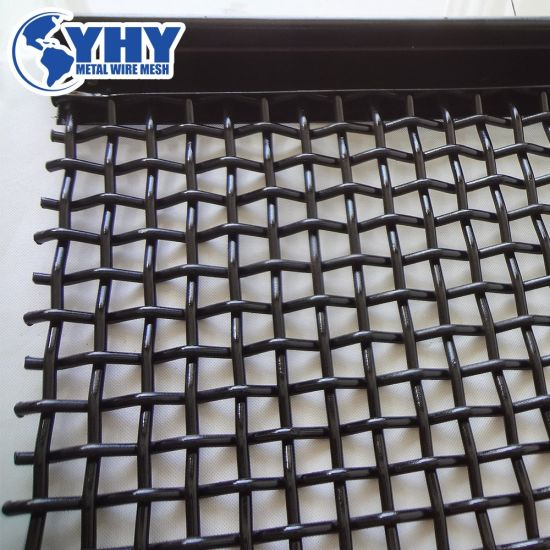 65mn Steel Hooked Woven Quarry Rock Screen Mesh for Mining