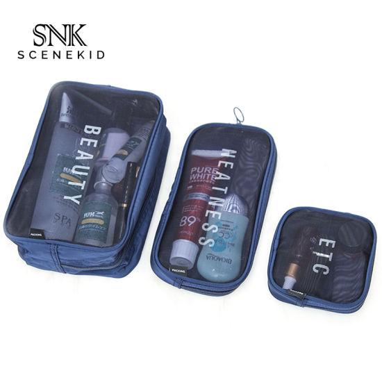 New High Quality PVC Toiletry Cosmetic Wash Bag, Waterproof Men Portable Cosmetic Travel Bag Sets