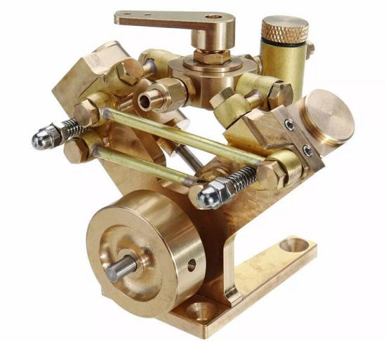 Microcosm M2b Twin Cylinder Marine Steam Engine Model Stirling Engine Gift  Collection