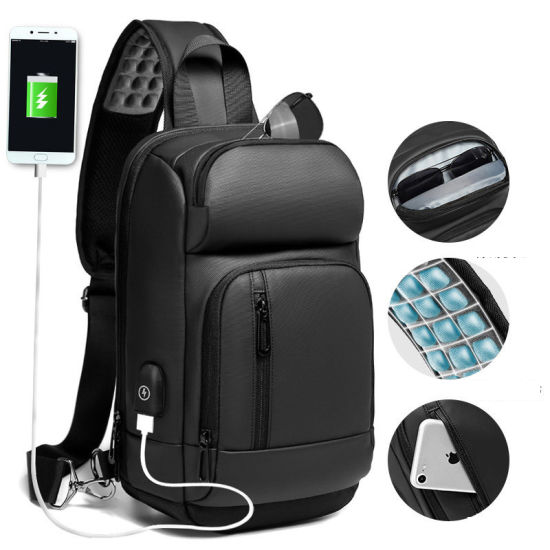 Men Outdoor Single Shoulder Crossbody Travel Casual Leisure Tablet PC Chest Bag (CY1906)