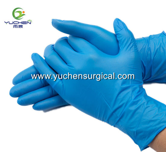 Disposable Nitrile Powderfree Gloves Used in Medical Food and Industrial pictures & photos
