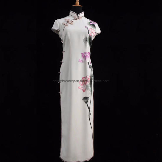 Lady Dress Custom Madehand Embroidery Lady Party Dress Luxury Gown