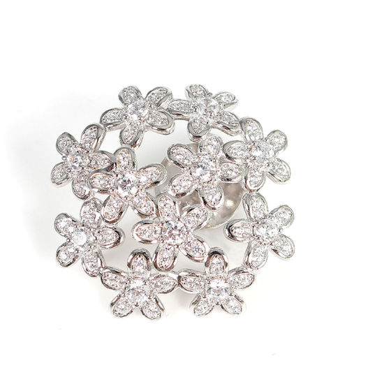 Fashion Trendy Elegant Flower 925 Sterling Silver Brooch pictures & photos
