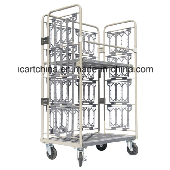 Wholesale Cart, Wire Mesh Roll Container, Storage Rolling Cage Cart