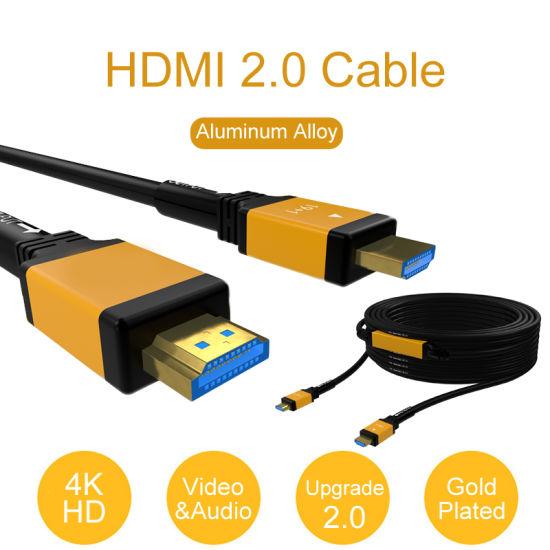 Ycom 4K 3D HDMI 2.0 Fiber Optic Aoc 18gbps 100m Cable