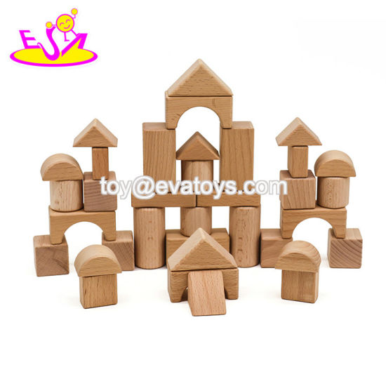 2019 Top Sale 35 Pieces Kids Wooden Building Blocks Toys for Wholesale W13A174