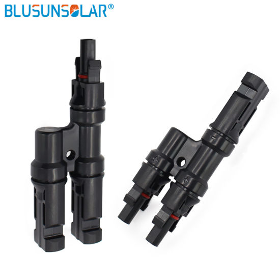 100 Pairs a Lot High Preformance TUV UL Certificated Mc4 T Branch 2 to 1 Solar PV Photovoltaic Connector for Solar Panel System