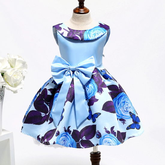 Fashion Children Baby Kids Sweet Cute Princess Sleeveless Pageant Vestido De Nina Flora Flower Girl Party Dresses pictures & photos