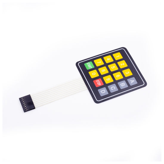 DC12V 4X4 16 Key Matrix Membrane Switch Keypad Keyboard (ABCD)