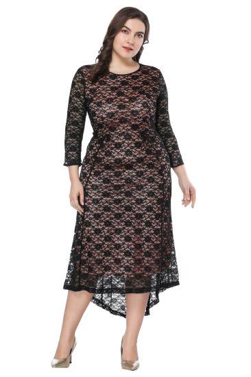Fashion Spring Casual Ladies Irregularity Waist Long Evening Women Dress