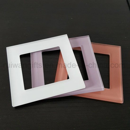 Touch Switch Plates Tempered Glass Panel in Various Specifications