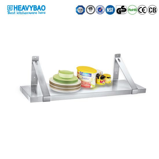 China Heavybao Stainless Steel Kitchen Wall Mounted Shelf Board Type China Kitchen Rack And Wall Shelf Price
