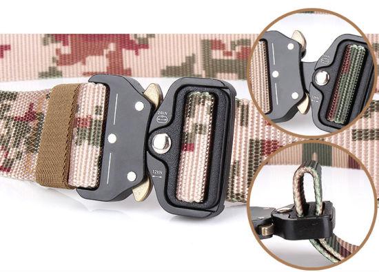Heavy-Duty Quick-Release Metal Buckle Military Style Webbing Riggers Web Belt