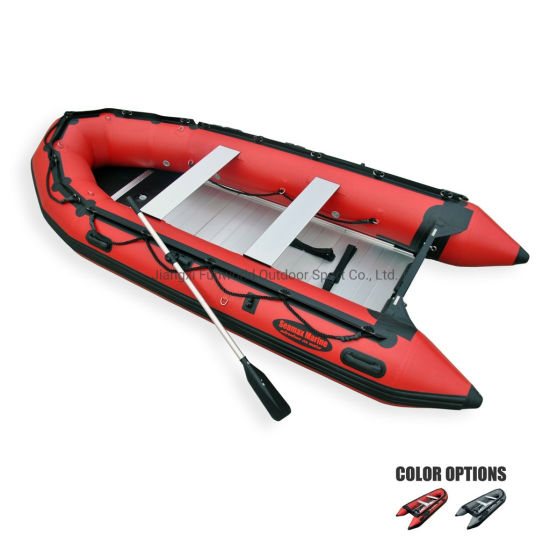 PVC Hypalon Inflatable Sport Boat Rubber Boat with Aluminium Floor for Fishing