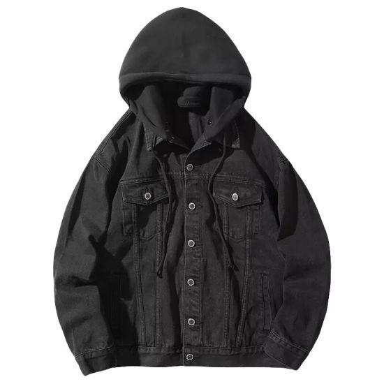 Dongguan Clothing Custom Hooded Denim Jacket for Men