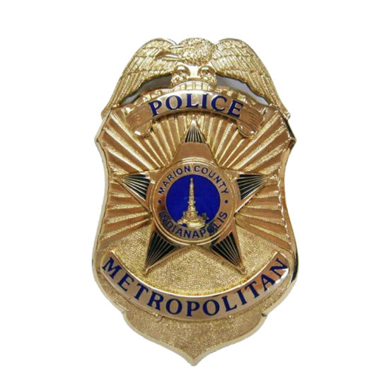 Droim Mor with Good Quality in White Background The City in Gold Plating From China Metal Custom Security Police Badges