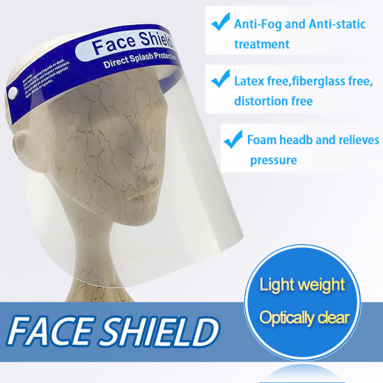 Pet Anti-Fog and Anti-Static Treatment Face Shield Visor pictures & photos