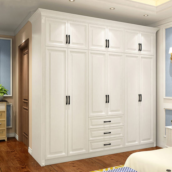 China High Quality Bedroom Armoire Cabinet Design Modern White Walk In Closet Wardrobe Furniture China Walk In Closet Modern Clothes Walk In Closet