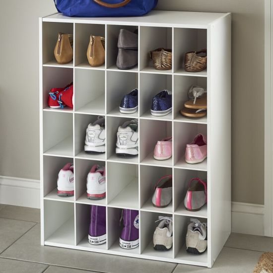 Home Furniture White Painting 25 Pair, Shoe Storage White Cabinet