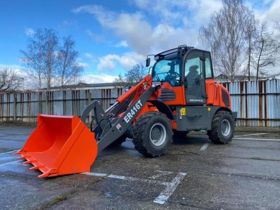 China Everun Er416t 1.6ton CE EPA Compact Construction Agricultural Garden Farm Small Front End Chinese Mini Bucket Shovel Boom Wheel Loader for Sale