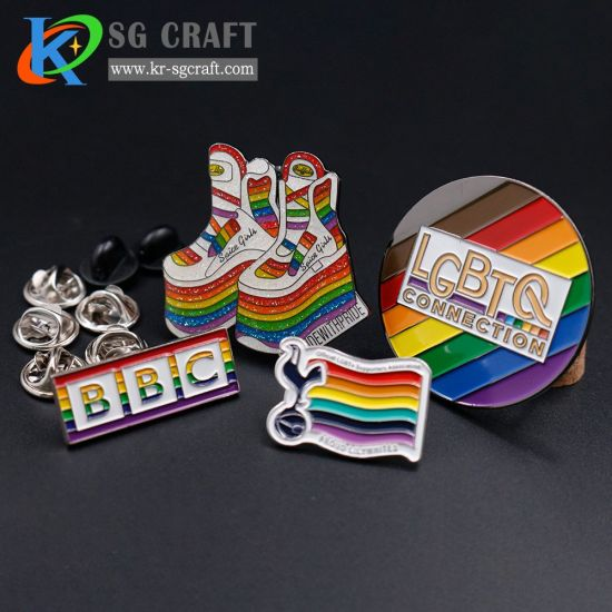 Badge Supplier Lapel Pins China Cartoon Lapel Pin Rainbow Pin Badge
