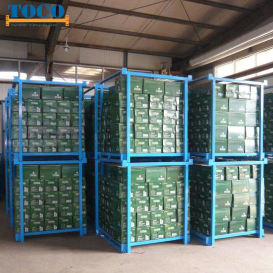 China Wholesale Custom Built Fabric Roll Collapsible Stackable Racking with Wheels