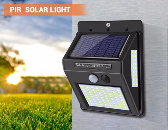 Outdoor Solar Power Wall Lights with PIR Motion Sensor IP65