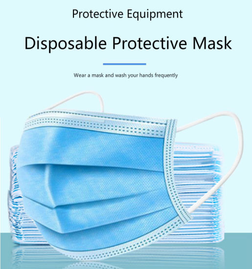 Disposable Earloop 3 Ply Non-Woven Anti Flu Anti Virus Mask