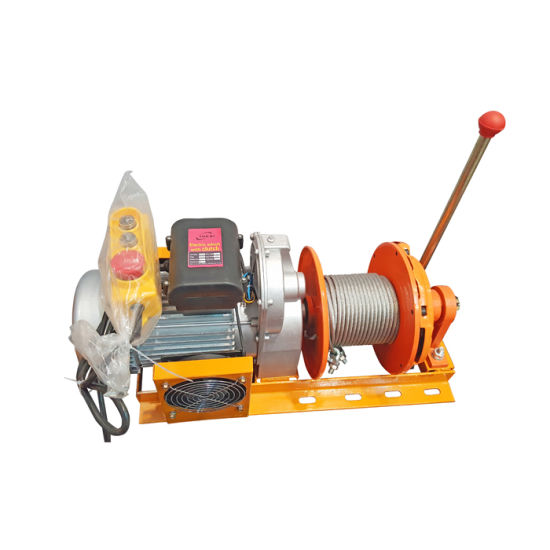 Small Type Electric Wire Rope Hoist 800kg with Clutch