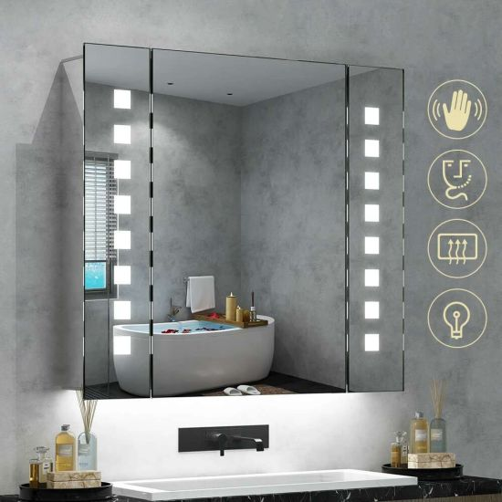 China Medicine Cabinet Bathroom, Light Up Bathroom Mirror Cupboard
