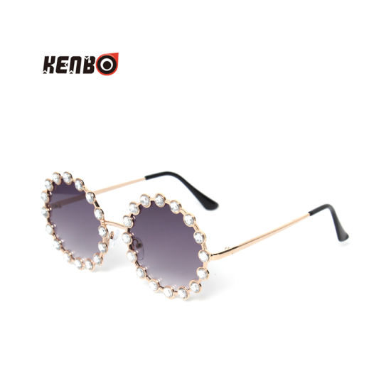 Kenbo 2020 Fashion Round Metal Frame Sunglasses Luxury Diamond Frame Clear Sunglasses for Women pictures & photos