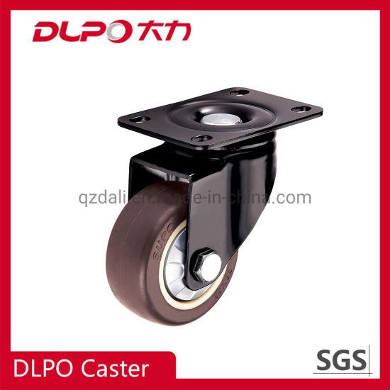 Medium Bracket Swivel Locking Industrial PU Castor Wheel