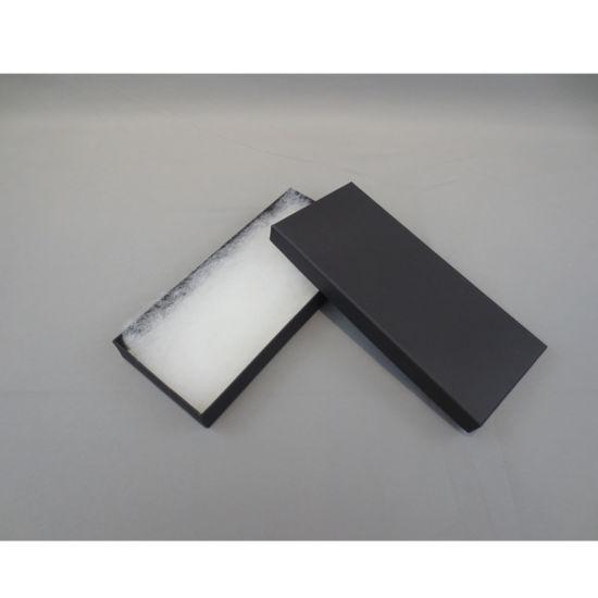 Fresh Stocks Black Textured Paper Jewellery Gift Packaging Box