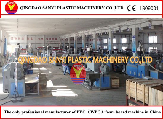 PVC/WPC Sheet Extrusion Line (SJ80/156) / WPC Machinery pictures & photos