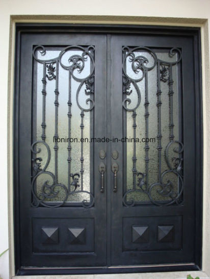 China 2018 High Quality Steel Exterior Security Iron Entry Door For