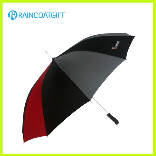Windproof Straight Manual-Open Promotion Golf Umbrella