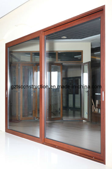 Customized Powder Coated Aluminum Sliding Door with Double Glazing pictures & photos