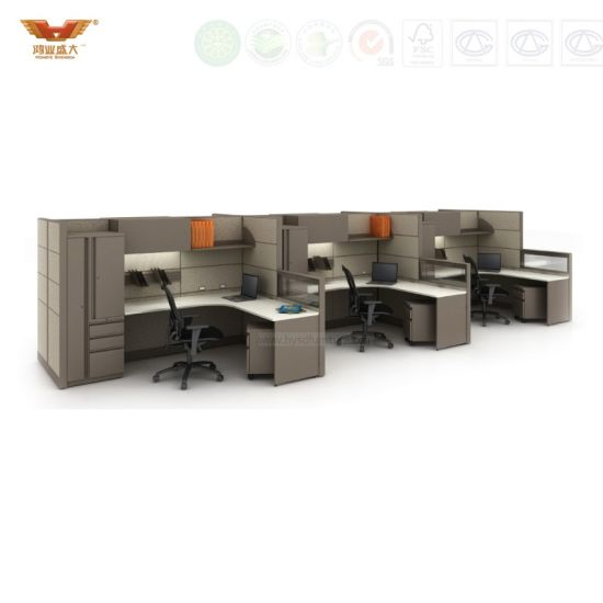 Fashionable Standard Size 4 Seats Office Bench Office Workstation