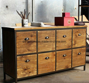 American Rural Solid Wood Cabinets, Wood Iron Bedroom Furniture