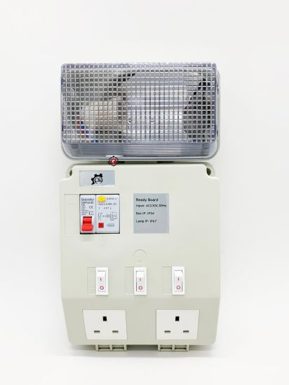 Power Distribution Supply with Socket Board and Light