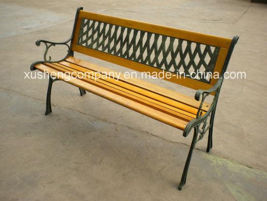 Modern Outdoor Cast Iron Palstic Wood Garden Chair