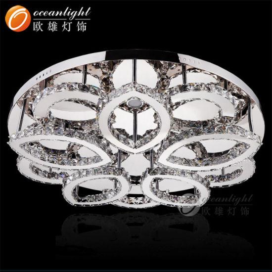 Modern Round Design Luxury Crystal LED Ceiling Light