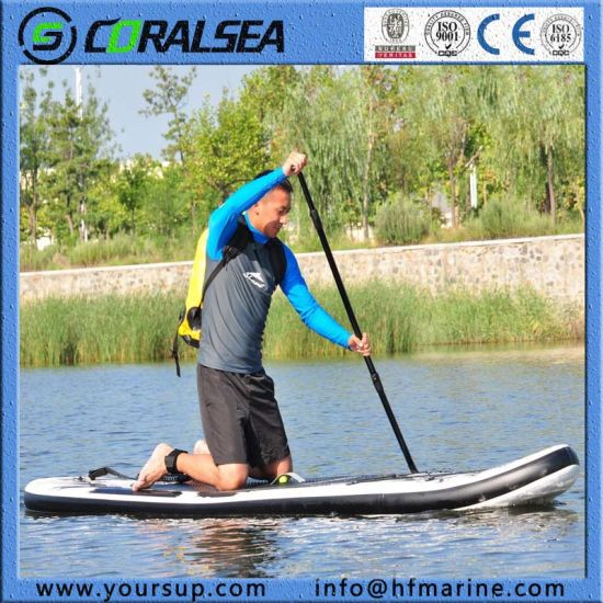 "Inflatable Surf Board Stand up Paddle Surf with High Quality (Magic (BW) 10′6"") pictures & photos"