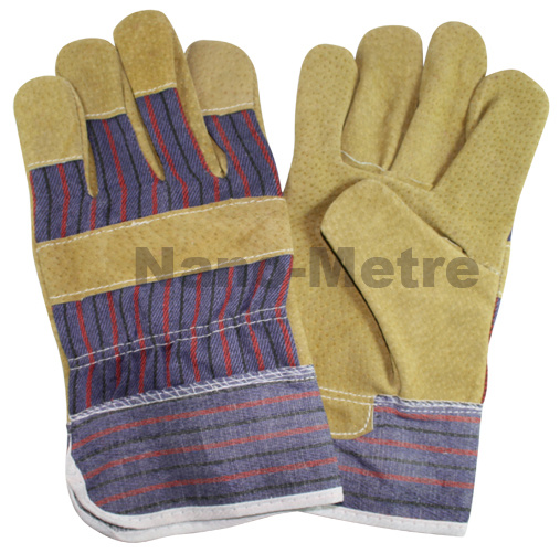 Nmsafety Pig Split Leather Rigger Working Safety Glove
