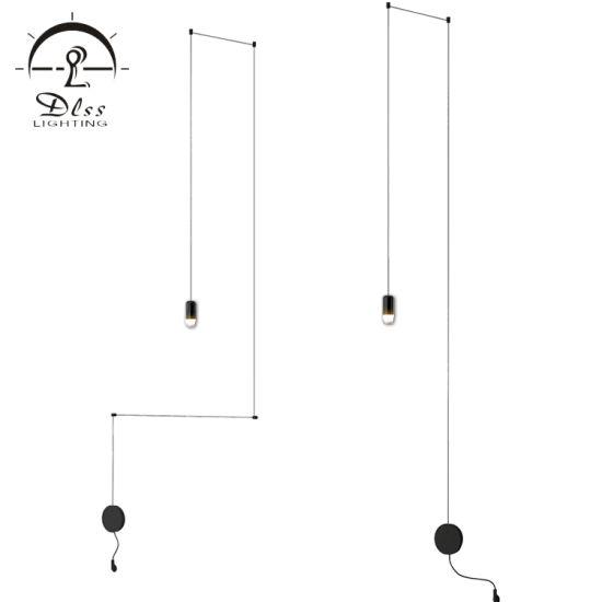 Custom Design Project Lamp Iron Acrylic Material Black Color Modern Lighting