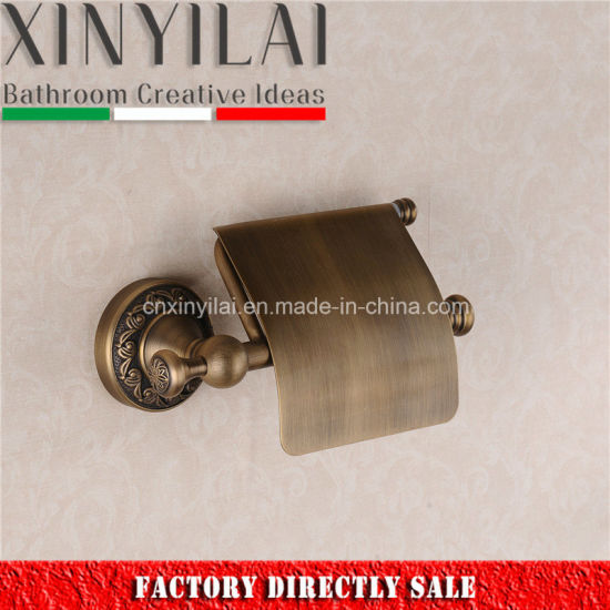 China Bronze Bathroom Finish Toilet Paper Holder With Cover China