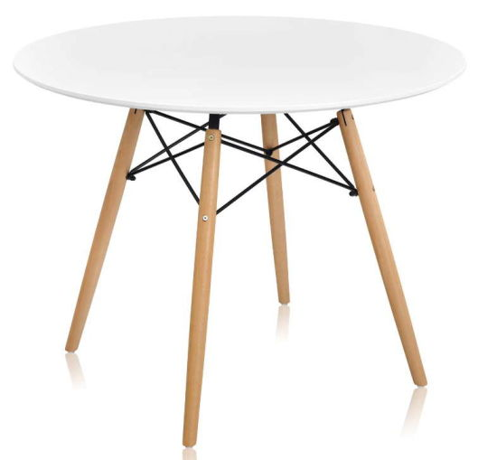 Wholesale Modern Home Living Room Furniture Design MDF Wood Coffee Table Dining Table with Beech Leg